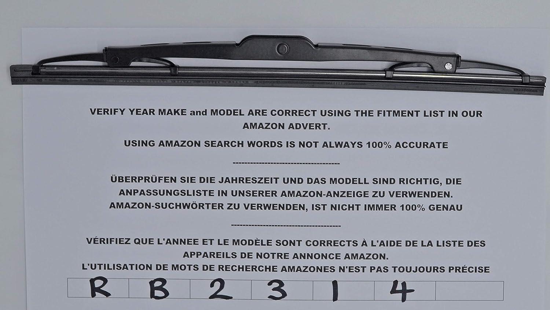 Limpiaparabrisas trasero de ajuste exacto RB2314 31 cm: Amazon.es ...