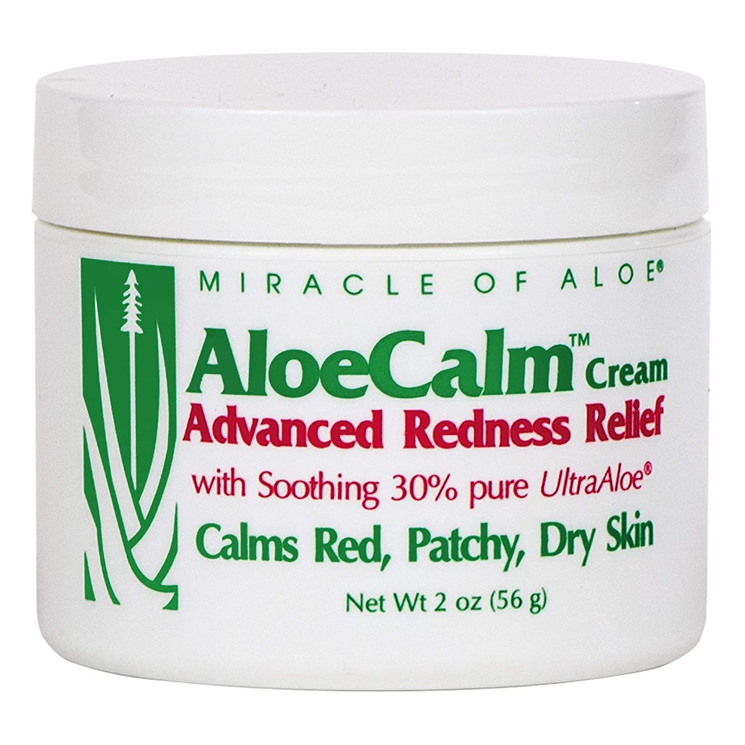 AloeCalm Advanced Redness Relief Cream 2 Ounce jar with 30% UltraAloe