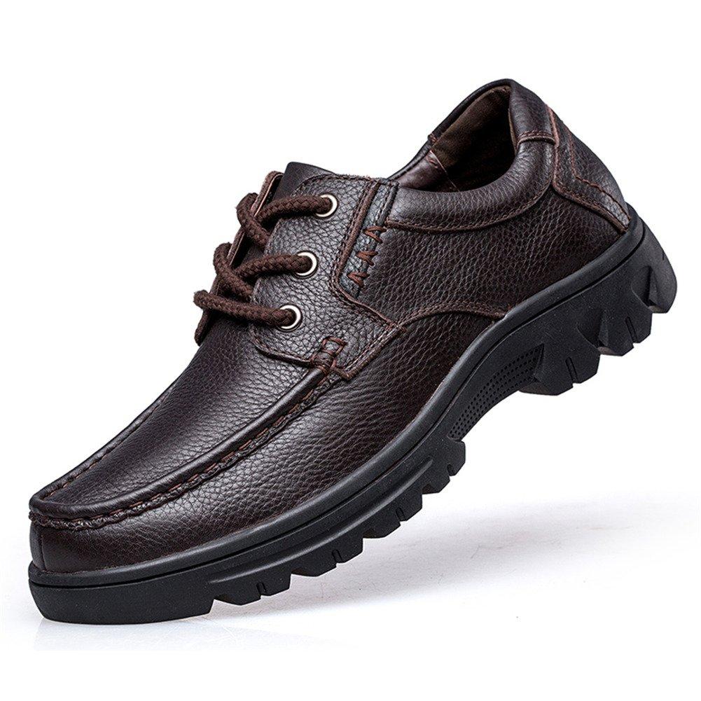 ailishabroy Chaussures de Sport pour Homme Richelieus à Lacets en Cuir Noir