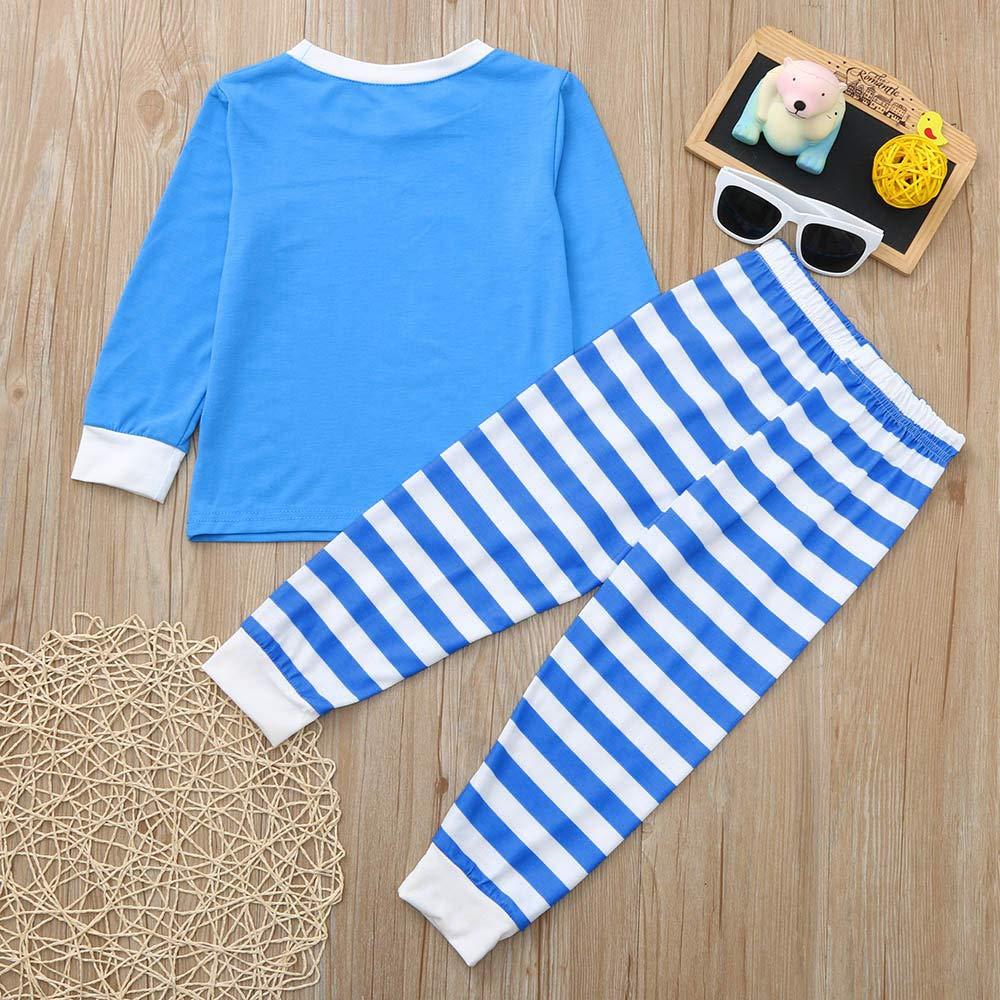 2Pcs Christmas Family Pajamas Set Indoor Shirt Pants Set Sleepwear Nightwear