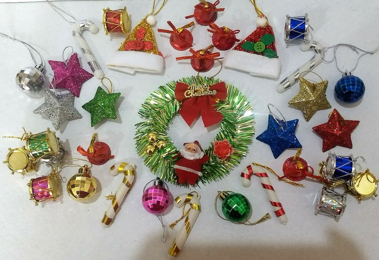 Christmas Drum Decor.Buy Set Of 45 Christmas Decoration Items Christmas Wreath