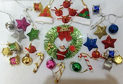 Buy Pragaart Christmas Wreath Pvc Plastic Hanging Star Ball Santa