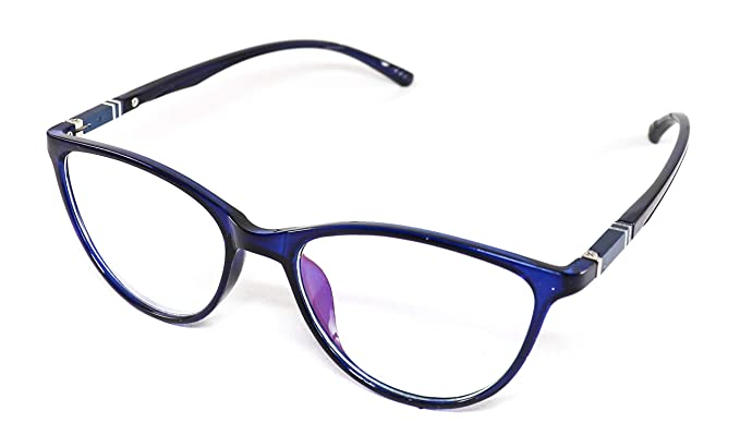 b8eba2ec138 Image Unavailable. Image not available for. Colour  Justkartit Blue Color  Cat Eye Shape Women Full Rim Spectacle Frame (Medium Size ...