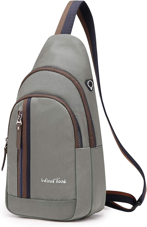 WindTook Sling Bag Shoulder Backpack for Walking Park Cycling
