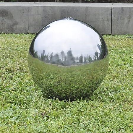 Festnight Fuente Cascada Esfera con Leds de Jardín Fuente de jardín Acero Inoxidable 30 cm: Amazon.es: Hogar