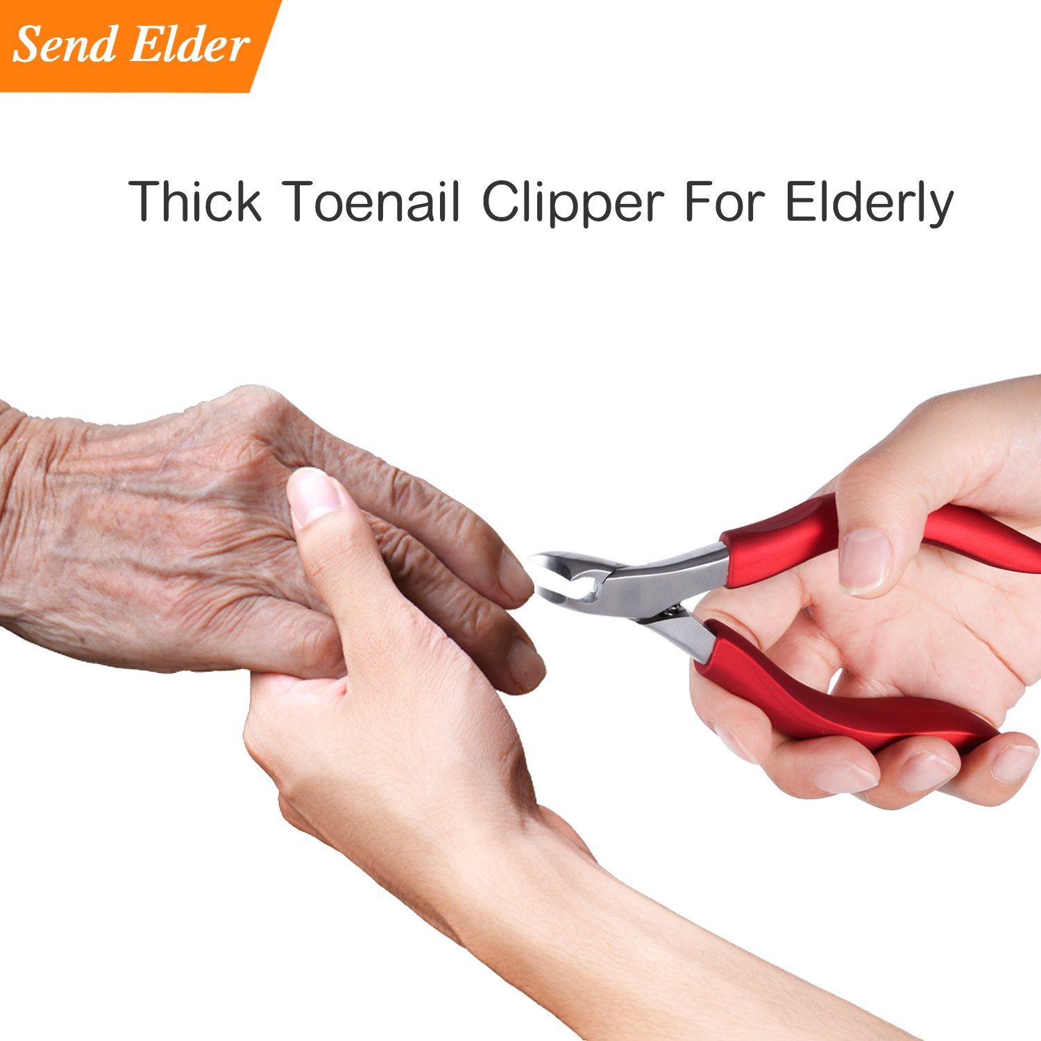 Toenailclippersforelderly, Used For Thick Toenails 、Fungi Toenails 、Ingrown Toenails. Long Handle, Leather Packaging, Safe Storage by RONAVO