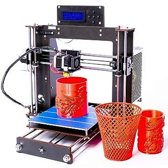 gimigo A8 Desktop DIY 3d impresora Prusa I3 3d impresora Kit 1.75 ...
