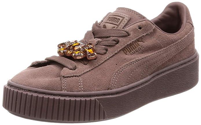 Puma sneakers platform vr nero e marrone suola: 3 cm