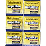 2 Strips Fleischmann's RAPID RISE INSTANT YEAST (6 Packs Of 1/4 Oz) For Bread