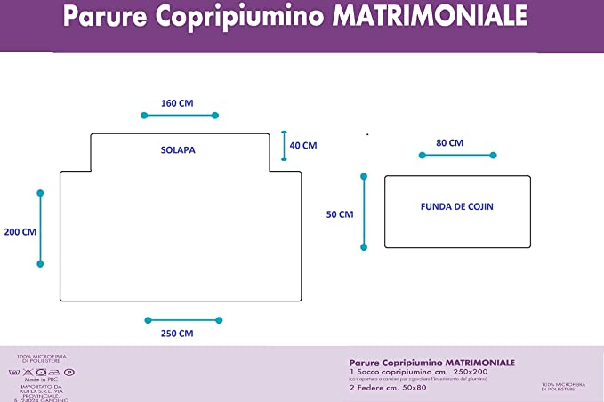 68987ea570 KUTEX Set Parure Copripiumino, Matrimoniale 200 x 250 cm, Disegno Mandala, estivo  e invernale: Amazon.it: Casa e cucina