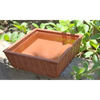 R.V Craft Earthen Pot Terracotta Pet Water Bowl Earth Brown (9X9-Inch)