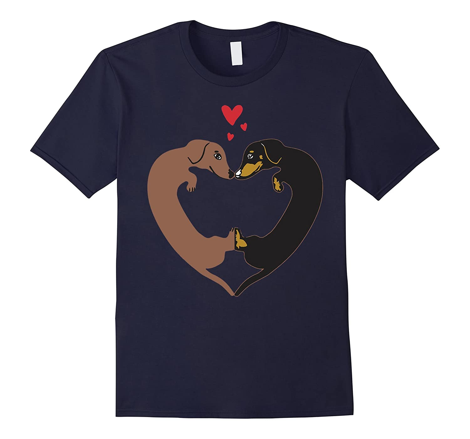 Dachshund Heart Shirt - Wiener Dog Heart Love Shirt-TD