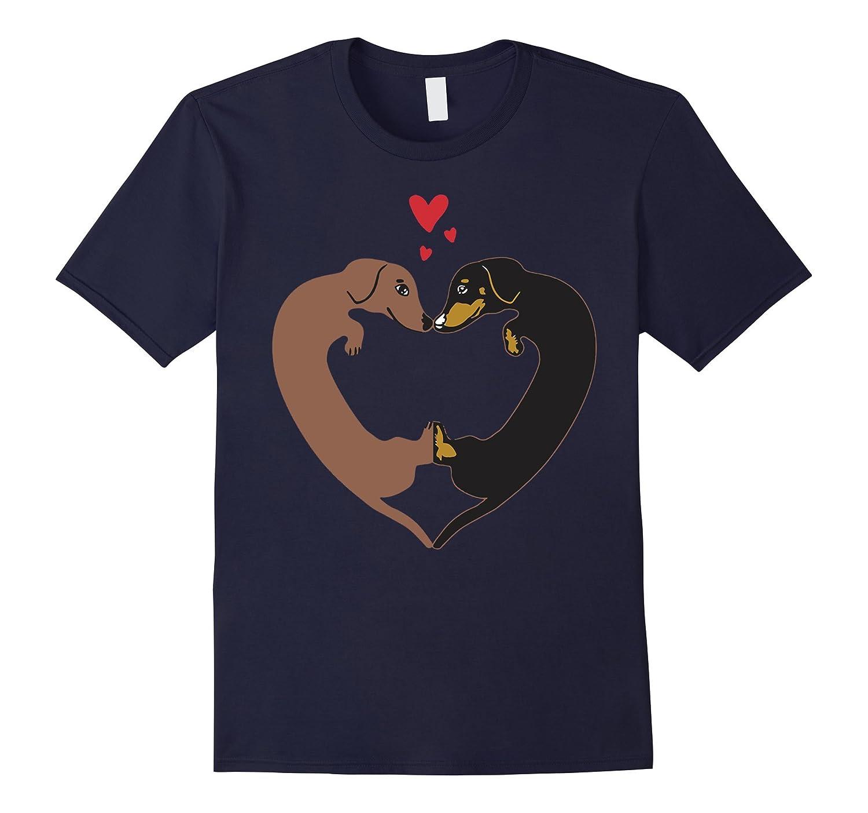 Dachshund Heart Shirt - Wiener Dog Heart Love Shirt-TD