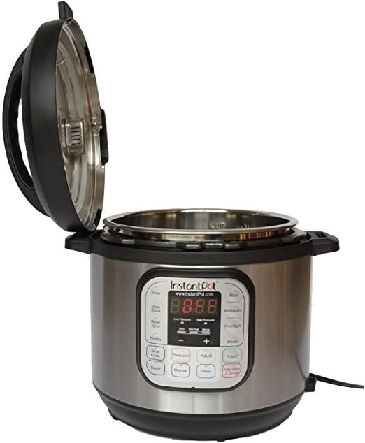 Instant Pot IP-DUO60 7-in-1 Programmable Pressure Cooker Latest 3rd 6qt//1000W