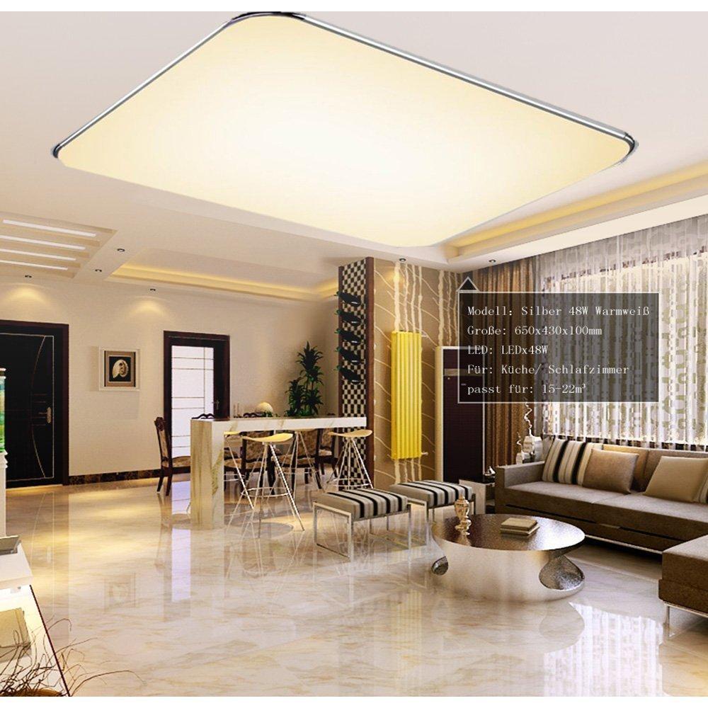LED Deckenleuchte Deckenlampe Leuchte Wohnzimmer Flur Warmweiß Rund Acryl IP44
