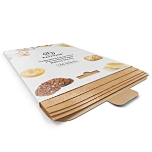"""Parchment Paper Sheets By KALHOOF- Premium 12"""" x 16"""" Unbleached FDA Certified - Pre Cut, Non Stick, Waterproof, Greaseproof - Reclosable Box For Easy Storage - Doesn't Burn Or Curl (100)"""