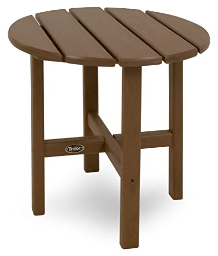 Trex Outdoor Furniture Cape Cod Round 18 Inch Side Table, Tree House
