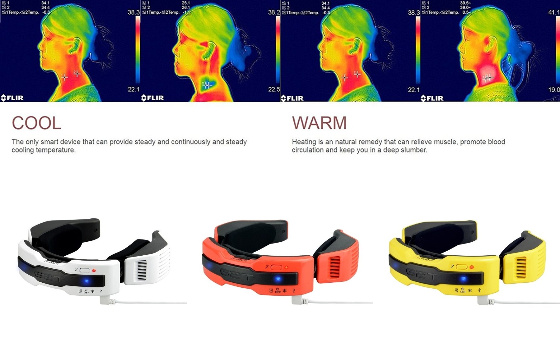 G2T N1 Plus Hot & Cold 2 in 1 Electric Neck Warming Scarf [Limited Edition], Adjustable Ergonomic Cooling and Heating Device for Outdoors Office Home Car (L/XL) (Power Bank Not Included)