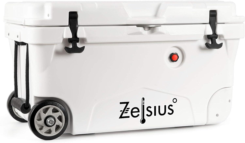 Zelsius Nevera Portátil con Ruedas I Isotérmica I 50 litros I Termobox I Rígida I Calor y Frio I Coche I Camping I Vacaciones I Pesca I Playa