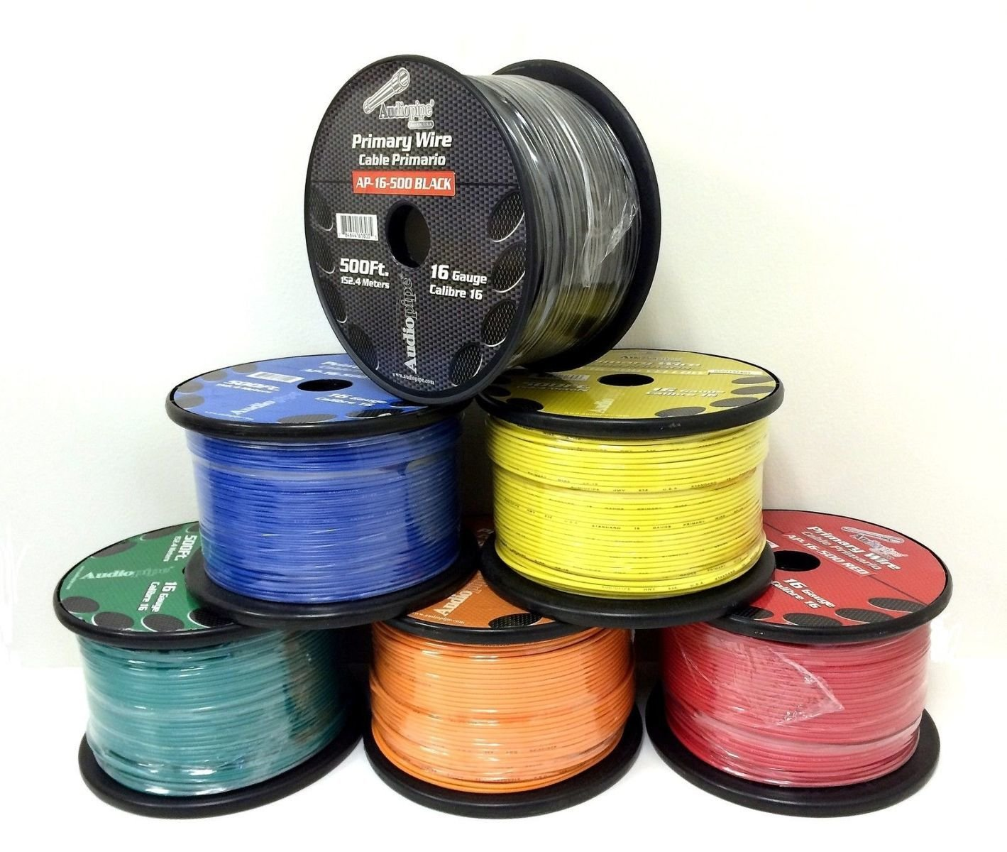 6 Rolls of 16 Gauge - 500' each Audiopipe Car Audio Home Primary Remote Wire