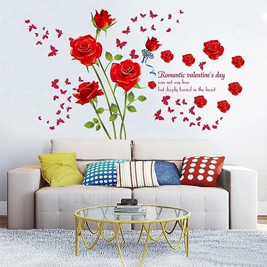 Flores Decorativo - Cualquier Superficie Plana Rosa de Agua Lilly Pegatinas De Pared Arte Calcomanías