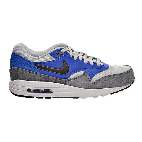 Nike Air Max 1 Essential Men s Shoe Hyper Cobalt Black Dark Grey 537383- cf1ce1f33263