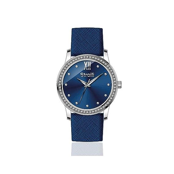 Reloj mujer Stroili solo tiempo correa piel azul