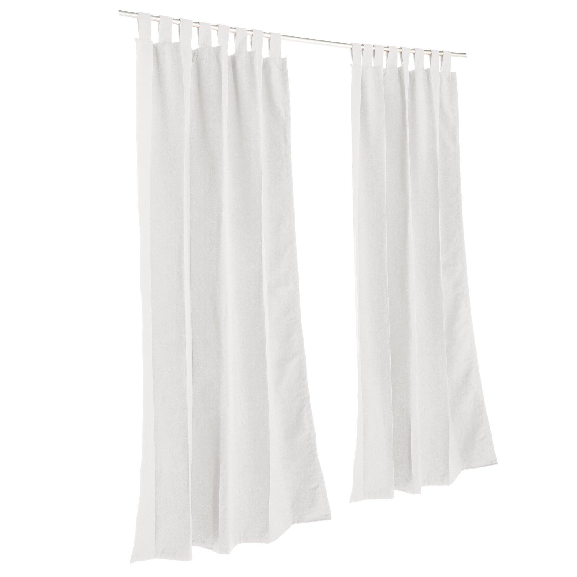 Hatteras Hammocks Pawleys Island Sunbrella Outdoor Gazebo Tabbed Solid Curtain Panel Canvas White 50'' x 84''