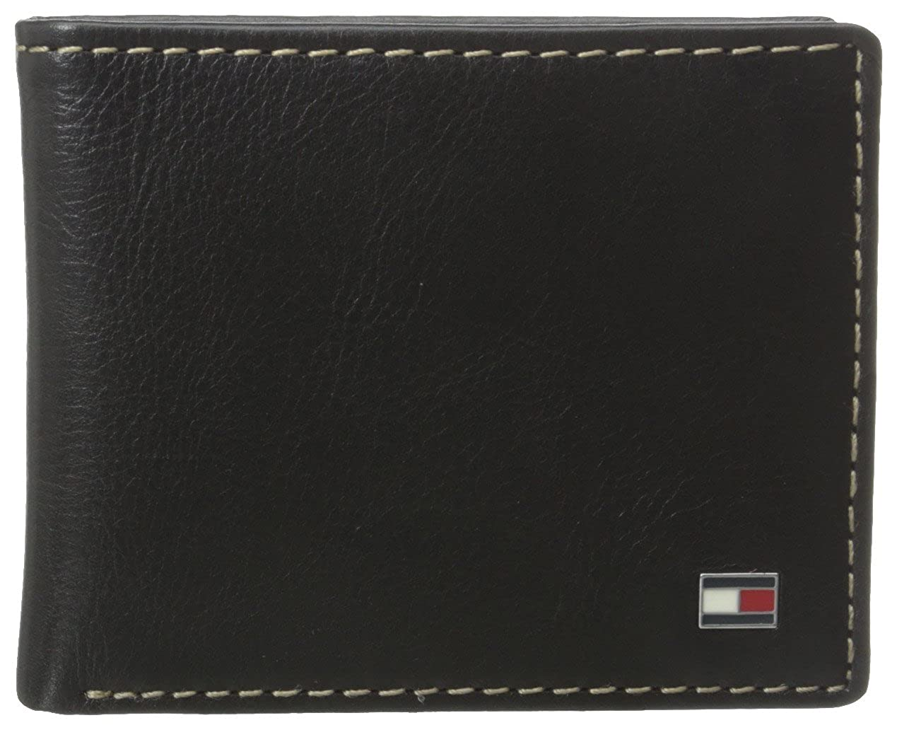 254c10b8 Tommy Hilfiger Men's Bifold Wallet - Leather Slim Thin Classic Billfold for  Men with Credit Card Slots, Black, One Size at Amazon Men's Clothing store: