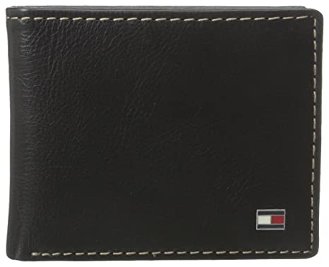 016114d345 Tommy Hilfiger Men's Bifold Wallet - Leather Slim Thin Classic Billfold for  Men with Credit Card