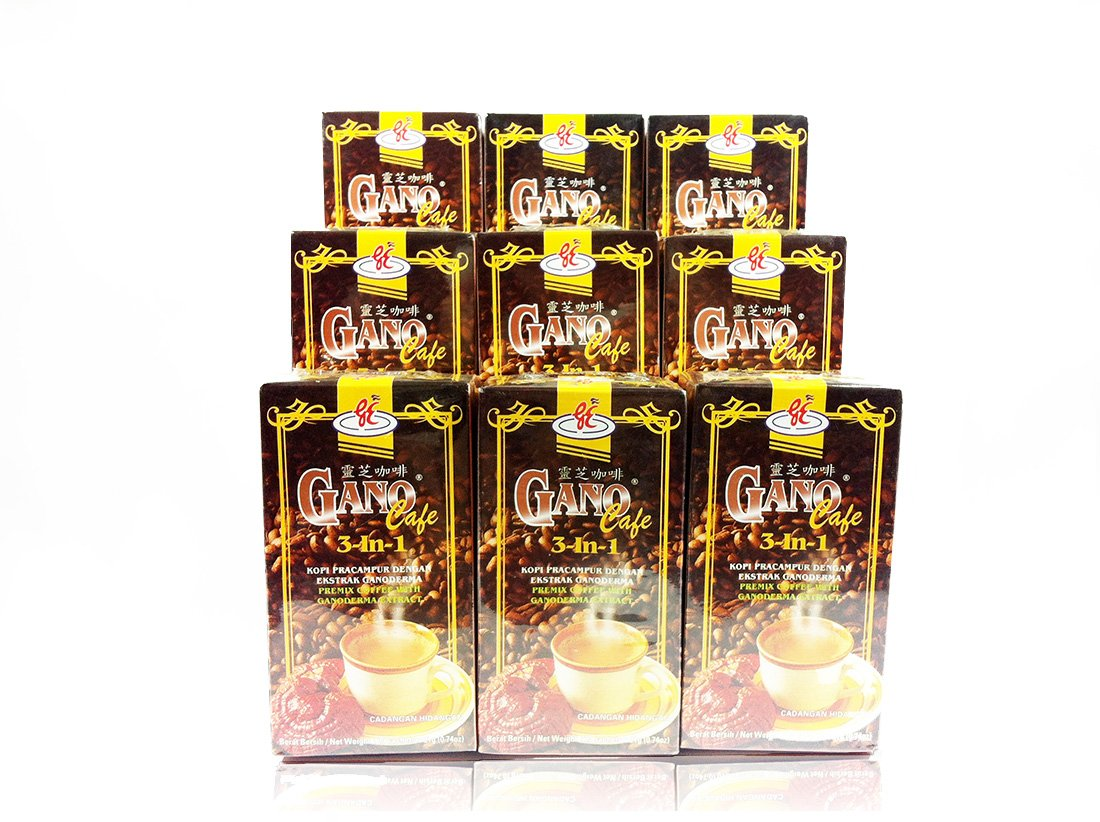 9 Box GanoCafe 3 In 1 Coffee with Ganoderma Extract (Total 180sachets)+ FREE EXPRESS SHIPPING