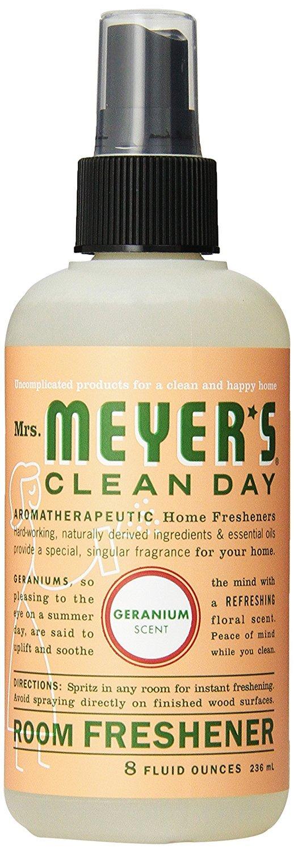 Mrs. Meyer's Geranium Room Freshener, 8-Fluid Ounce Bottles (Pack of 6)