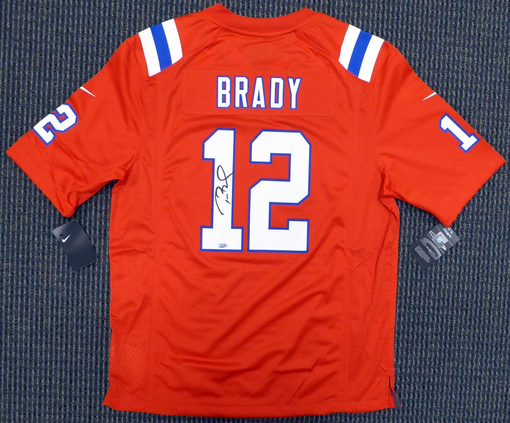 New England Patriots Tom Brady Autographed Red Nike Jersey Size L - TriStar  COA at Amazon s Sports Collectibles Store e18194c60