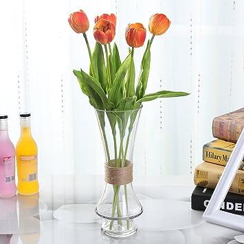 Amazon Welmay 189 Smile Tulip Pu Latex Artificial Flowers
