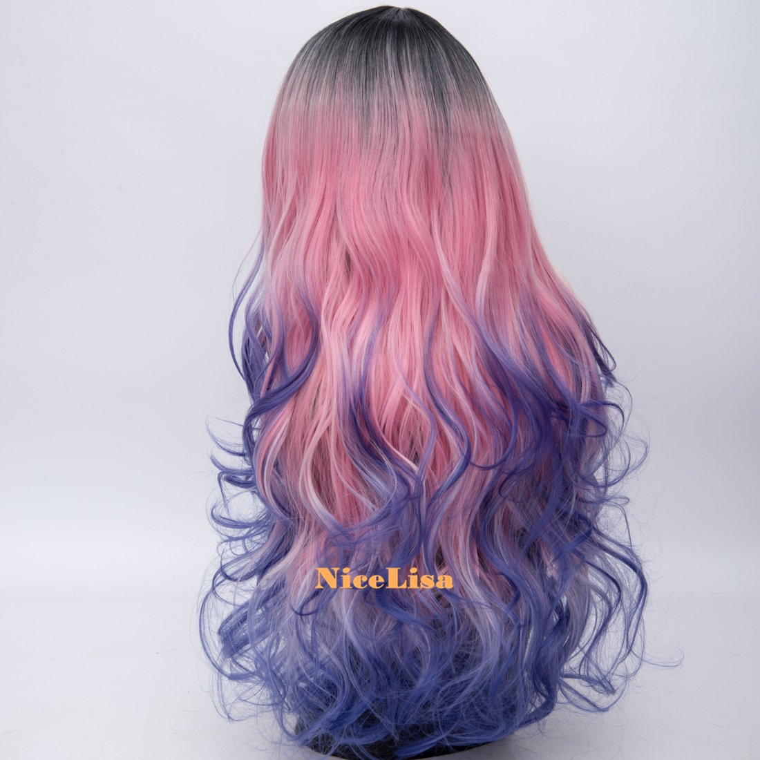 Amazon.com : NiceLisa Womens Long Natural Wave Mermaid Braids Rainbow Dark Roots Cosplay Costume Party Wig : Beauty