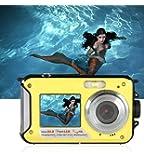 防水カメラ デジタルカメラ 水中カメラ 防水デジタルカメラ HD 1080P24.0MPデュアルスクリーン オートフォーカス デジカメ 水に浮く