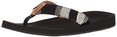 Reef Damen Cushion Threads TX Sandalen, Schwarz (Black/White), 36 EU