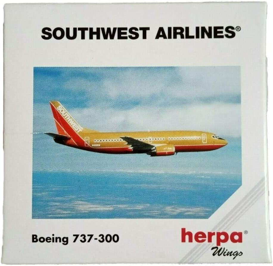 Herpa 500562 Southwest Airlines Boeing 737-300 1:500 Scale Diecast 1971 Livery