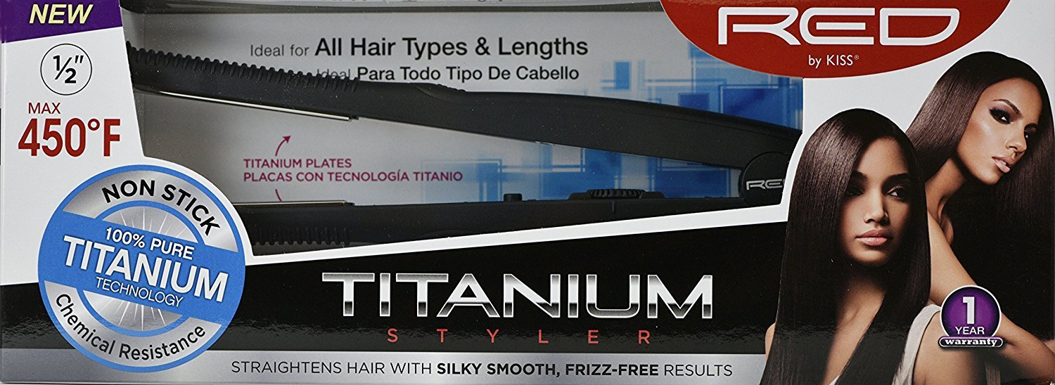 RED Kiss Titanium Styler Flat Irons, 13mm