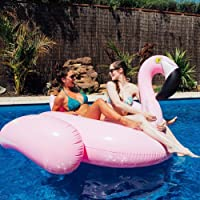 Inflatique Giant Inflatable Flamingo Pool Float