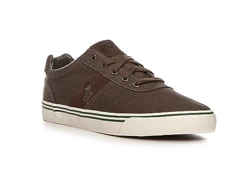 Polo Ralph Lauren - Zapatillas de Tela para Hombre marrón marrón 44, Color marrón, Talla 45: Amazon.es: Zapatos y complementos
