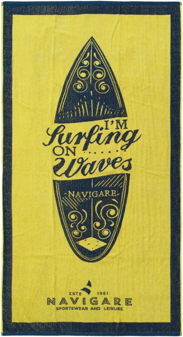 Navy Navigare Telo Mare Spugna 100/% Cotone 6 Varianti Colore Art.Surf