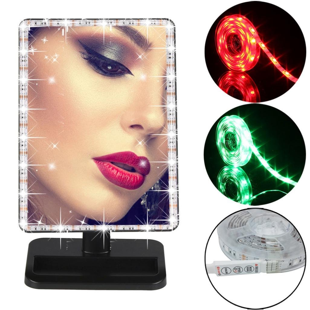 Amazon: ABCsell Battery Powered RGB Strip Light Kit Mirror Lighted  Vanity LED Light Strip Lamp: Toys & Games