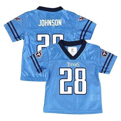 Home Blue Chris Titans Light Team Jersey Outerstuff Johnson Infant Sz Nfl Newborn Tennessee