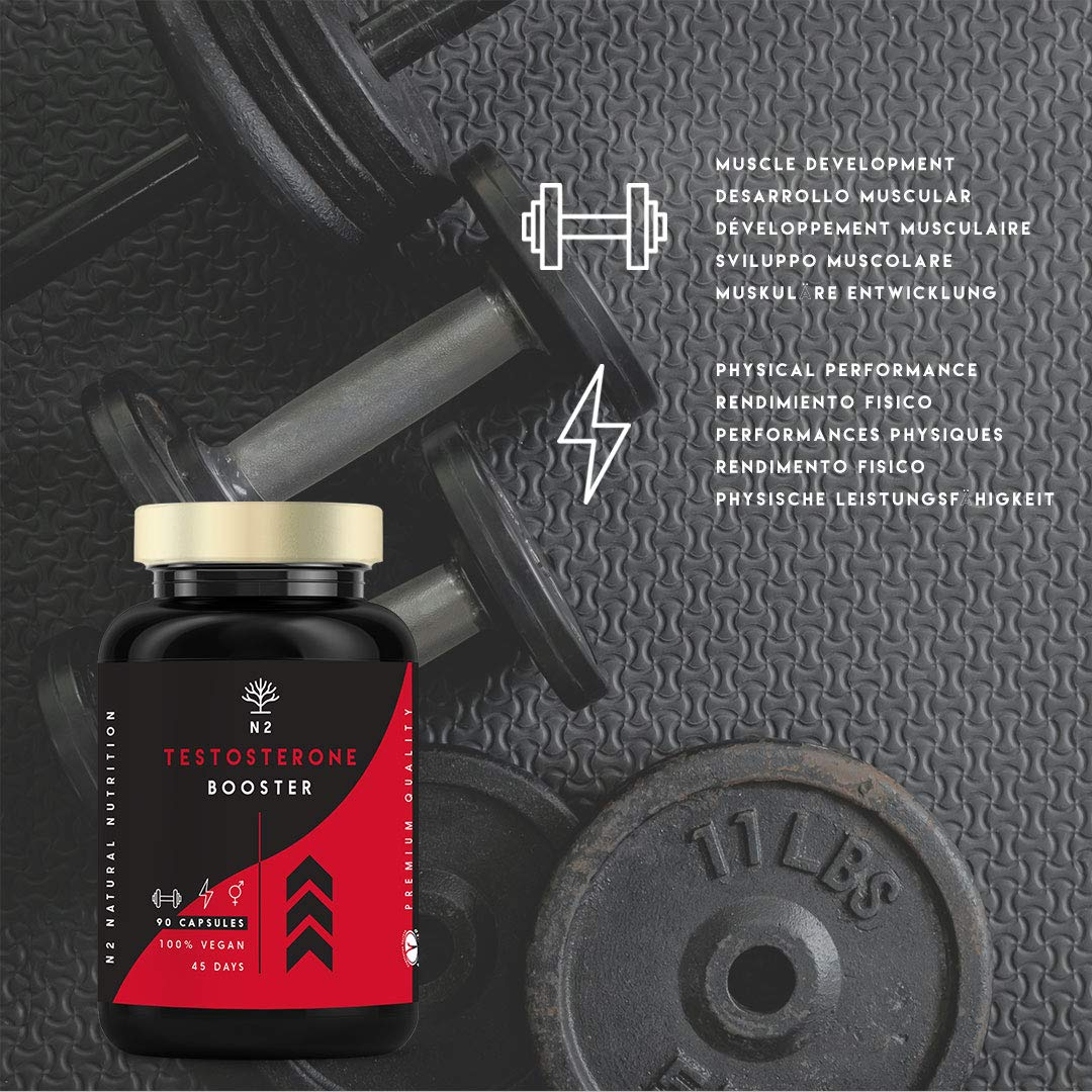 Testosterone Booster for Men Strength Energy Performance Reduces Fatigue  Contributes to Normal Test Levels Fenugreek Ginseng Maca Zinc B6  90