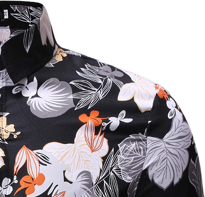 Shirt Summer Style Men Casual Sandy Beach Hawaiian Short Sleeve Shirt Flower Comfortable Cool Shirt