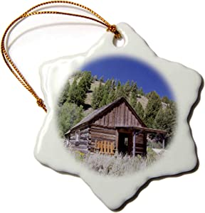3dRose USA, Idaho, Custer, Gold Miners Cabin - US13 JWI0068 - Jamie and. - Ornaments (ORN_144321_1)