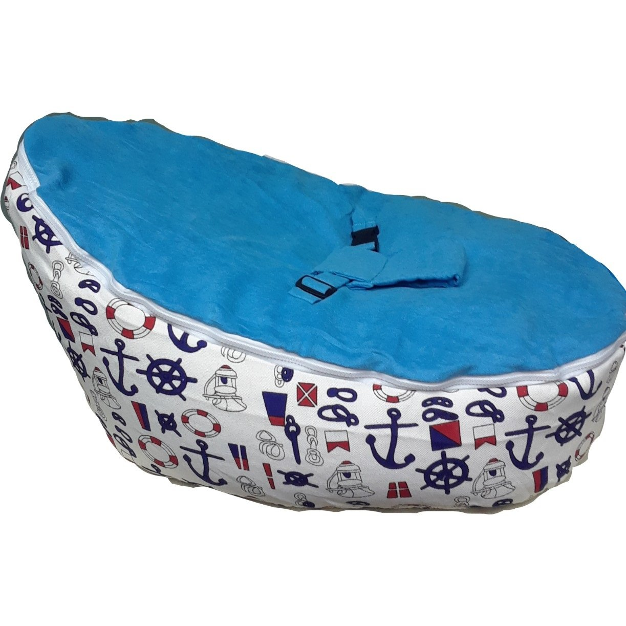 BABYBOOPER BEANBAGS A SOFT & COZY SITTING AND NAPPING COZY CHAIR FOR BABIES (BOOPER SEA SAILOR) Q CITY OUTLETS
