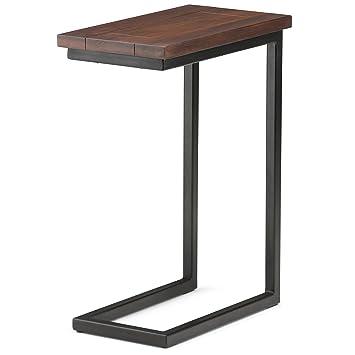Simpli Home Skyler C Side Table, Dark Cognac Brown