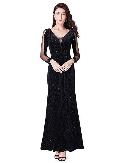 Ever Pretty Women Cold Shoulder V Neck Long Formal Evening Dress